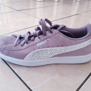 Women's original puma sneakers blinged out